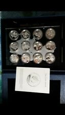 2009 cook island 12pc ukraine wonders silver coin set coa box rare 500mintage
