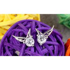 1 Pair Women Fashion Earrings Alloy Rainestones Angel Wings Women Jewelry