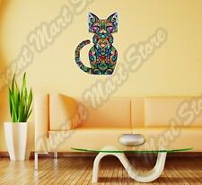 "Cheerful Cat Abstract Ornament Colorful Wall Sticker Room Interior Decor 18""X25"""