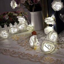 20 LED À Piles Mariage Noël Fleur Rose Fil Lampe Lampe Conte De Fée Cadeau