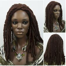 Dreadlocks African Style Wig Unisex Long Wavy Curly Brown Heat Resistant Hair