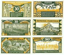 **1921 HUSBYHOLZ Germany Banknote - INTERESTING ~ Complete Set German Notgeld