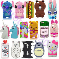 New 3D Cartoon Disney Soft Silicone Rubber Case Cover For iPhone&Samsung&LG UK