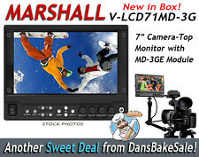 "Marshall V-LCD71MD-3G 7"" MD Camera Top Monitor w/ MD-3G 3G/HD/SD-SDI Module NEW!"