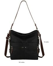 The Sak Leather Sanibel Bucket Bag in Black -New
