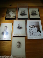 1880's Professional Portrait Photographs Lot of 7 -Very Good Condition FREESHIP