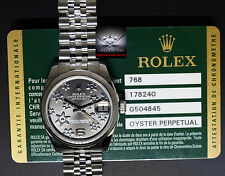 Rolex Datejust Steel Florale Dial Midsize 31mm Ladies Watch Box/Papers 178240