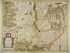 Basilea Breisach Friburgo Rhode Mulhouse tarjeta kaerius Janssonius 1640 i24