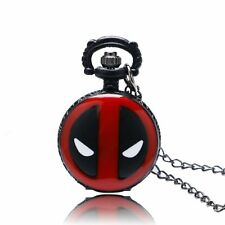Deadpool Cosplay Manga Dessin Animé Montre De Poche Quartz Chaîne Collier