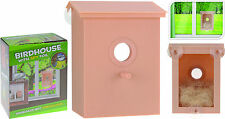 Nesting Box Plastic Bird House Window Bird Box with Clear Back and Spy Foil
