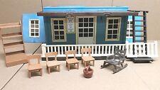 Playmobil Western blaues Haus ähnlich 3421 mit Schild Colorado Springs 3770 #378