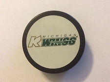 Defunct Michigan K-Wings IHL Hockey Puck Official Vegum Slovakia 1995-2000