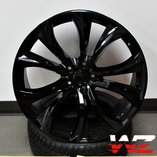 "22"" 451 Style Staggered Wheels fits BMW X5 X6 X5M X6M Gloss Black Rims 5X120"