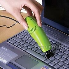Computer Vacuum USB Keyboard Cleaner Laptop Brush Dust Cleaning (Random Color)