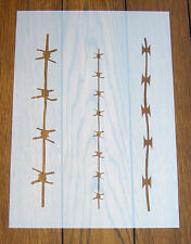 Barbed Wire Stencil Mask Reusable Mylar Sheet for Arts & Crafts