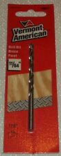 "LOT OF 10 PACKS OF VERMONT AMERICAN 10211 11/64"" HSS METAL DRILL BIT"