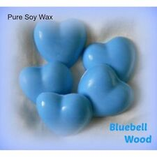 Five Bluebell Wood Eco Soy Wax heart melts for oil burner to scent your home