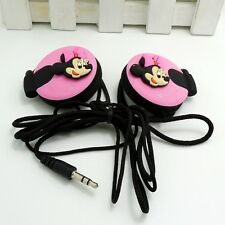 Minnie Pink 3.5mm Clip on Earphone Headphone for MP3/4 Mobilephone iPhone