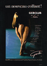 PUBLICITE  ADVERTISING  1980   GERBE  Bas& collants GERCLUB