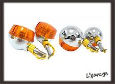 [LG311]SUZUKI A100 GT100 TS100 TS125 TS185 TS250 FRONT + REAR SIGNAL 4PCS 6V(CA)