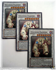 COLOSSAL FIGHTER X 3  5DS1-EN043 yugioh super rare holo card set 1st Ed NM