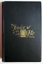 RARE Antique Victorian 1882 THE BOOK OF THE DEAD Death Mourning George Boker