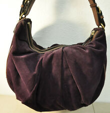 Banana Republic Plum Hobo Suede Shoulder Bag