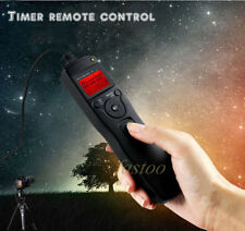 Timer Remote Shutter Cord + 2.5mm Adapter for Nikon D3100 D5000 D7100 D7000 D600