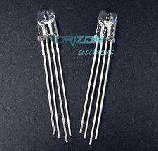 100Pcs LED RGB common anode 4-PINS F5 5MM Super Bright Bulb Lamp