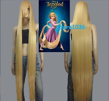 Disney Movie Tangled Rapunzel long blonde cosplay wig wavy cos full wig 150cm