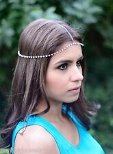 Silver Rhinestone Hair Chain Jewelry Party Sexy Boho Cute Hair Accessories