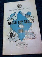 Rugby football league programme 1960 grande-bretagne/france coupe du monde série vgc