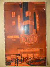 Gilbert Miller's GRAND HOTEL at ADELPHI THEATRE- Adapted by Edward Knoblock