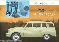 Prospekt DKW 3=6    UNIVERSAL  , Autohaus EMIL SPAHR STUTTGART