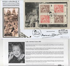 LADY ANTONIA FRASER - SIGNED - BENHAM SILK FIRST DAY COVER