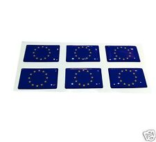 6 DRAPEAU EUROPE Flag DOMING Domed RESINE 3D Small Decal/Sticker (6 pack)
