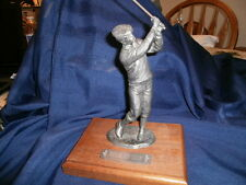 "Michael Ricker Pewter Scupture ""HOLE IN ONE"""