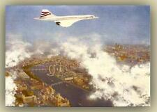 Aviation Art     Birthday Card -   Concorde over London.  British Airways