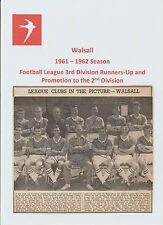 WALSALL 1961-1962 RARE ORIGINAL FULLY HAND SIGNED TEAM GROUP X 14 SIGNATURES