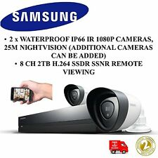 SAMSUNG TECHWIN SDH-P4021/UK 1080p HDTV 2TB Hybrid Security Kit Bullet Cameras