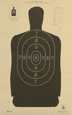 "100 B-29 NRA Shooting Targets Official Police Silhouette 14""x22"" MADE IN THE USA"