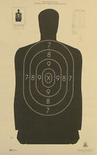 """100 B-29 NRA Shooting Targets Official Police Silhouette 14""""x22"""" MADE IN THE USA"""