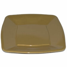 "240 x Quadrato Oro in Plastica Monouso Piastre laterali 7""/18cm - Party Supplies"