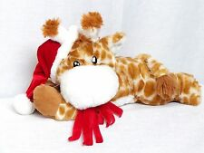 "NEW 14"" Floppy Giraffe Plush Red Santa Hat & Scarf Inter-American Product"
