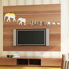 7pcs Elephant Mirror Wall StickersHome Room Decal Decor Art Stickers