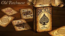 Bicycle Old Parchment Rare Limited Custom Playing Cards - Authentic Poker Deck