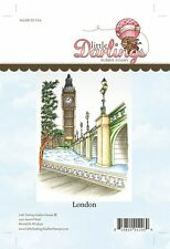 "LITTLE DARLINGS Rubber Stamp Set LONDON LD4021 Big Ben Bridge  5.2"" x 4.0"""