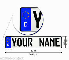 Original German License Plate - Customized With YOUR NAME / TEXT - Car Exclusive