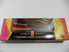 "New Gold N Hot GH2144 1"" Professional Ceramic Straightening Flat Iron"
