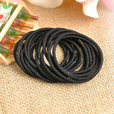 16x Wholesales Simple Elastic Hair Tie Rope Rubber Band Nylon Ponytail Holder